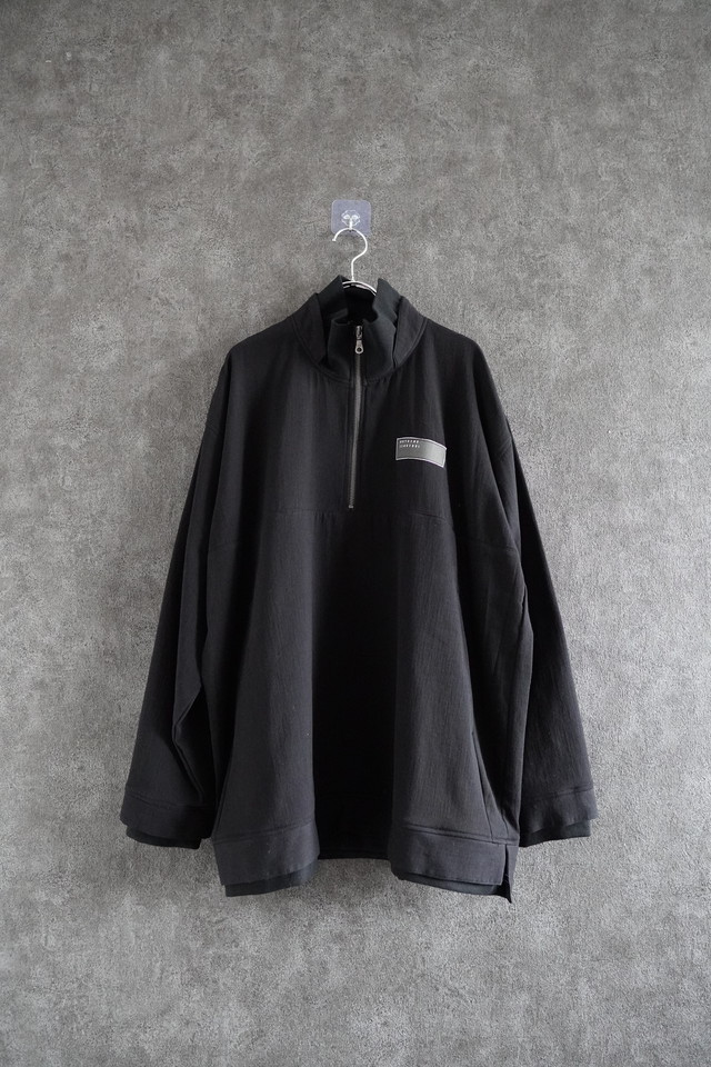 vast222 half ZIP   sweat  Black