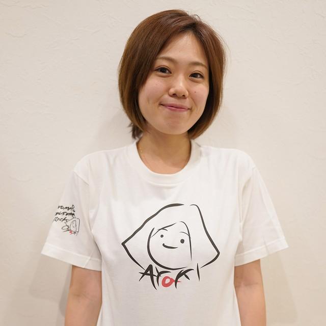 自筆イラストTシャツ(B-似顔絵AYAKI)