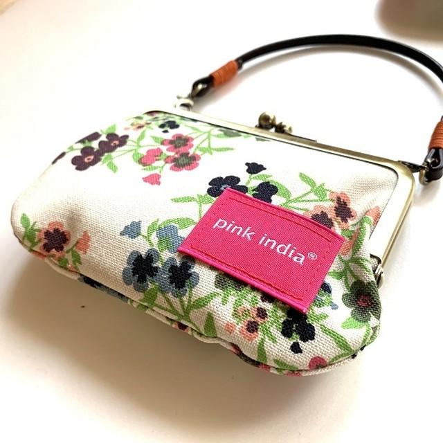北欧デザイン 持ち手付手提げがまぐち財布 | frida