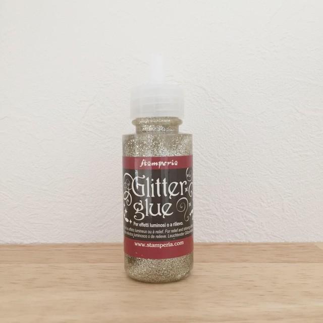 【スタンペリア】GLITTER GLUE グリッターグルー 40ml  ゴールドシルバー ラメ糊 デコパージュ