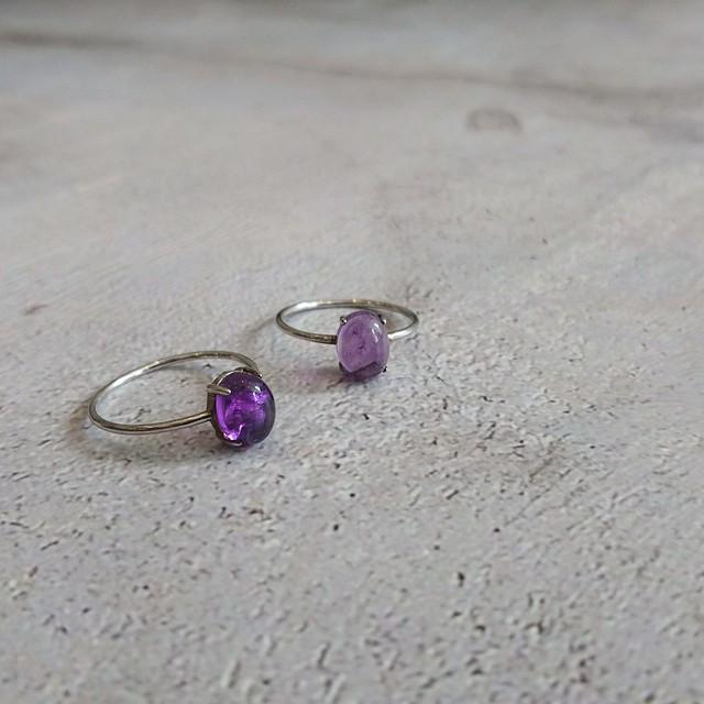 Gem stone Ring Amethyst