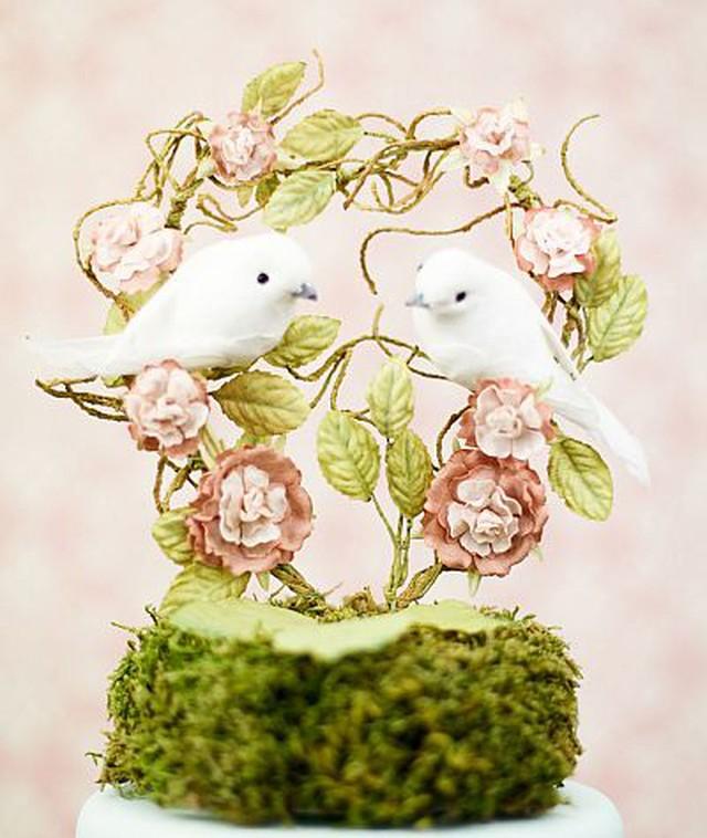 【お取り寄せ】ケーキトッパー【ペット編】★Love☆Bird★