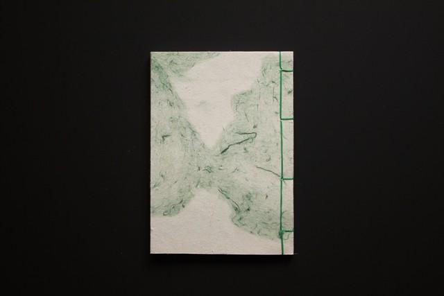 丸森和紙の和綴帳(よもぎ)
