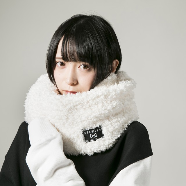 Fluffy snood Off white