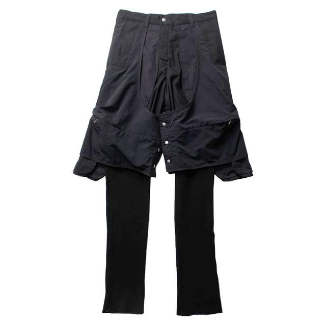 BRYAN JIMENEZ Layered Trousers Black