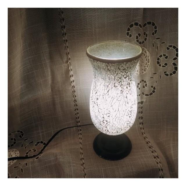 ミルグラス テーブルランプ フラワーポット/シルバー