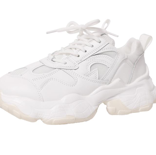 Platform white sneakers LD0506