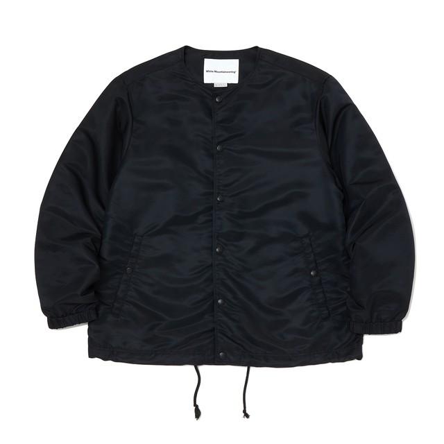 GORE-TEX INFINUM NO COLLAR COACH JACKET - BLACK