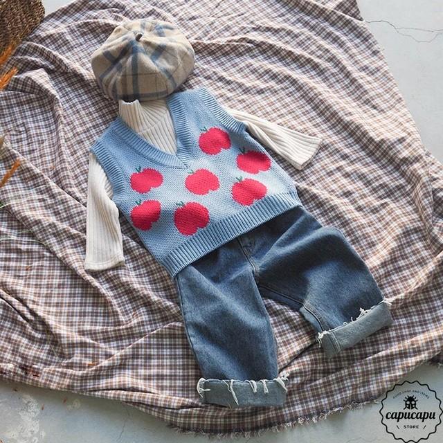 «予約» apple vest 2colors りんごのベスト
