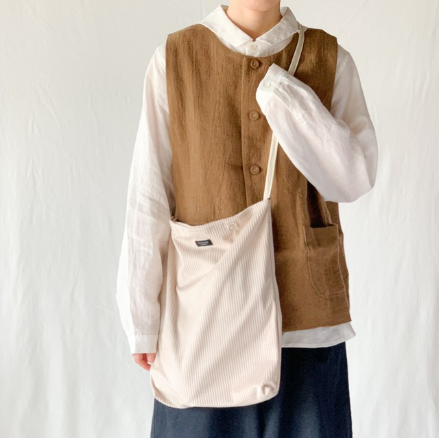 STANDARD SUPPLY - DAILY CORDUROY  SHOULDER TALL ショルダートール - Brown / Yellow / Pink / Ivory