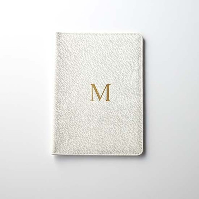Premium Shrink Leather Initial Book Cover (イニシャル入り手帳カバー(A5サイズ対応))