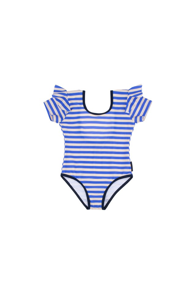 tinycottons / STRIPES FRILL SWIMSUIT