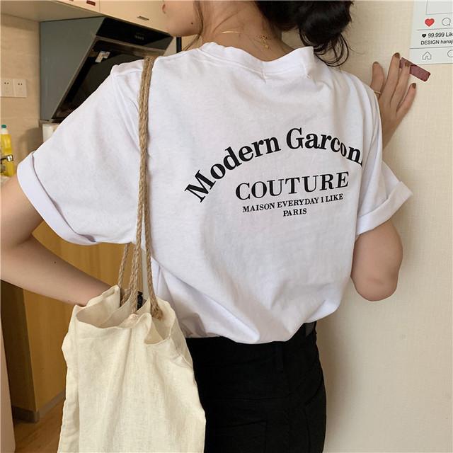 シンプルロゴTシャツ D2131