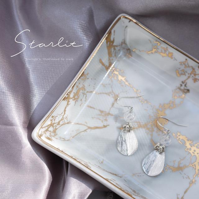 Silver drop pierce/earring