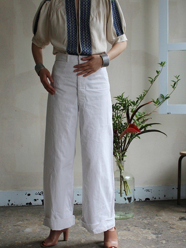 40s cotton pants