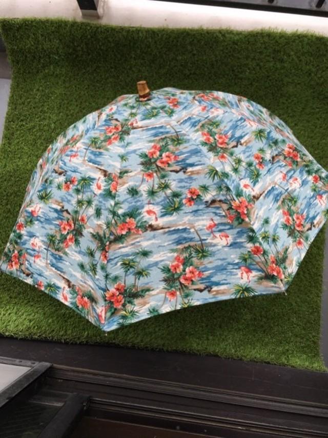 手作り日傘 ハワイアンブルー