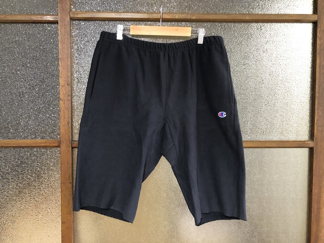 CHAMPION REVERSE WEAVE SWEAT SHORT PANTS (BLACK)