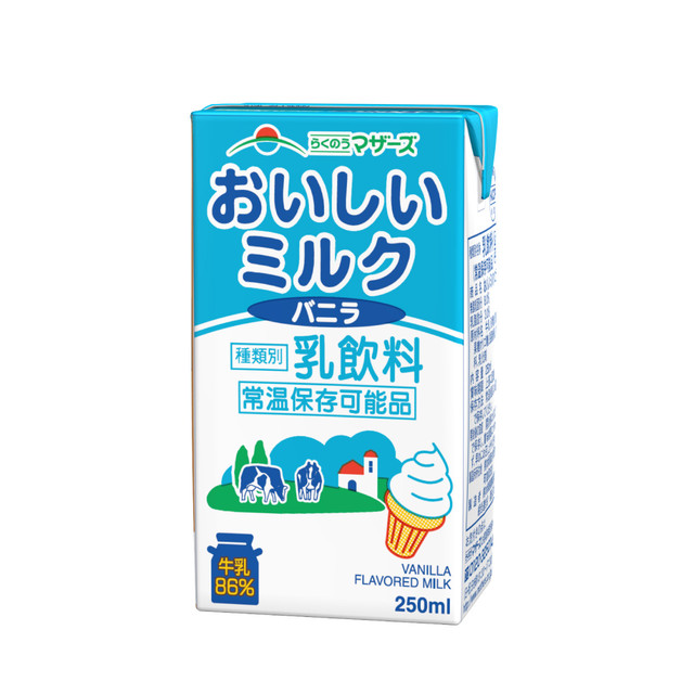 【定期便】おいしいミルクバニラ 250ml(24本入り)