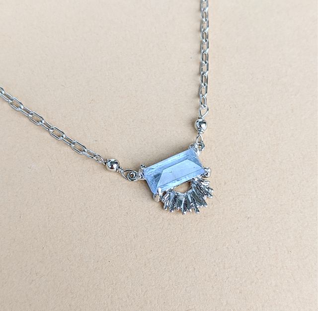 Blue Beryl Necklace