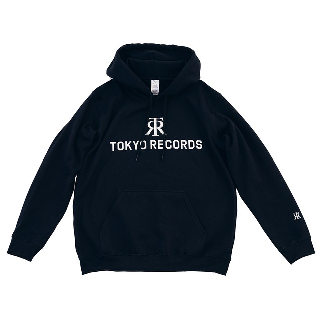 TOKYO RECORDS LOGO HOODIE(BLK × WHT)