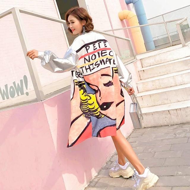 【トップス】長袖図柄プリントファッション人気パーカー