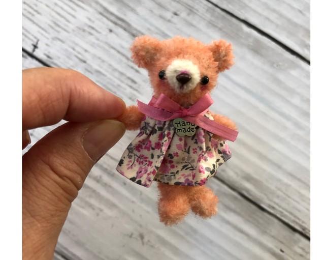 dollnodollお人形のためのテディベア【ピンクちびくま】