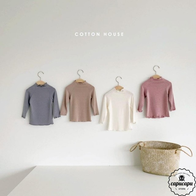 «sold out» high neck frill sleeve 4colors ハイネックスリーブ