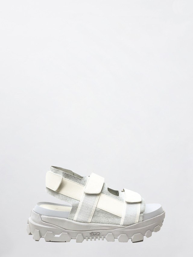 VEIN COW LEATHER HIGH RISE SANDAL White   VA11-352