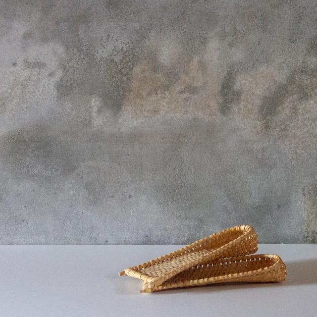 竹編のおしぼり置き 2set