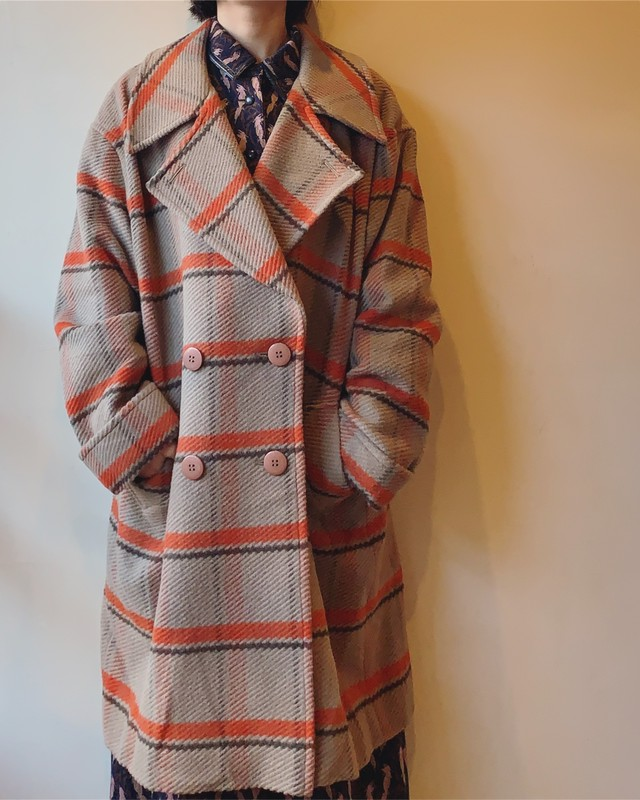 vintage deadstock cashmire mix coat
