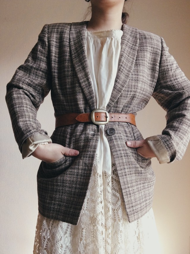 From Italy Vintage Checkered Jacket