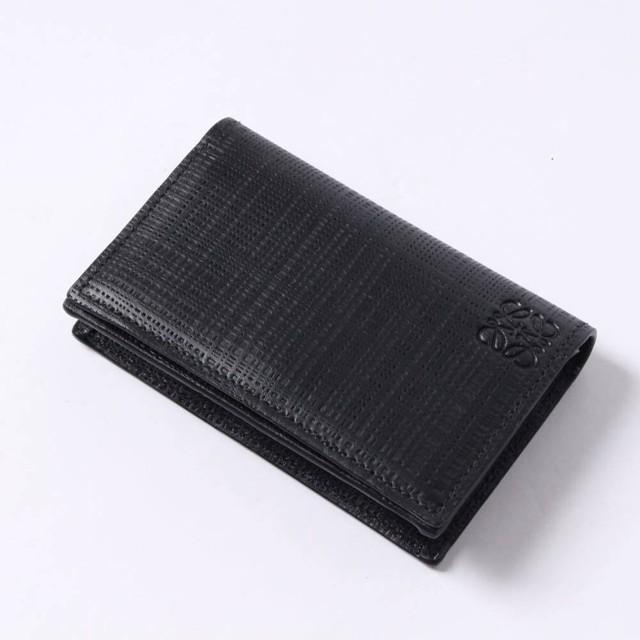 LOEWE(ロエベ) レザーカードケース 名刺入れ コインケース ブラック ロゴ 101.88.M97 r013675