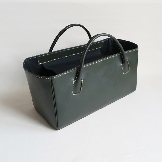 Square box bag D.GREEN
