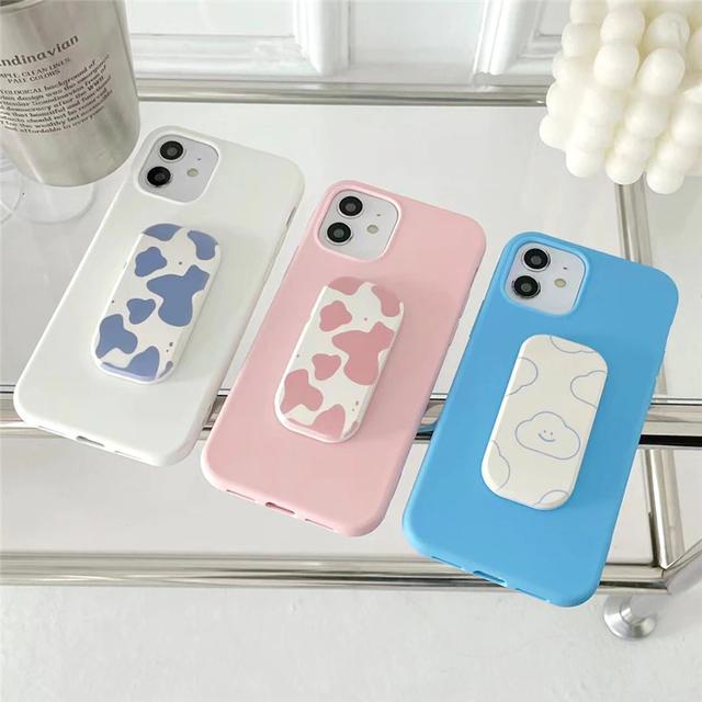Milk pattern stand iPhone case