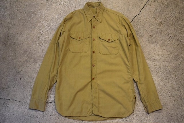USED 50s L/S Vintage Work Shirt -15 1/2 S0595