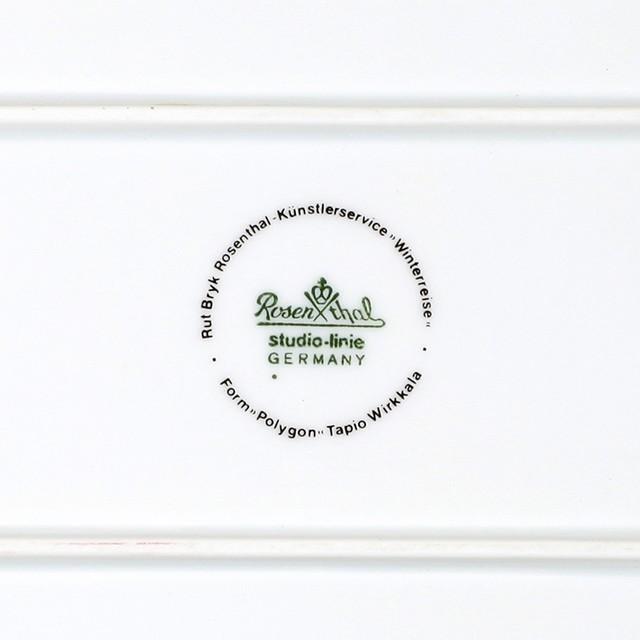 Rosenthal ローゼンタール Rut Bryk ルート ブリュック Winter Journey 325mm 角皿 ヴィンテージ