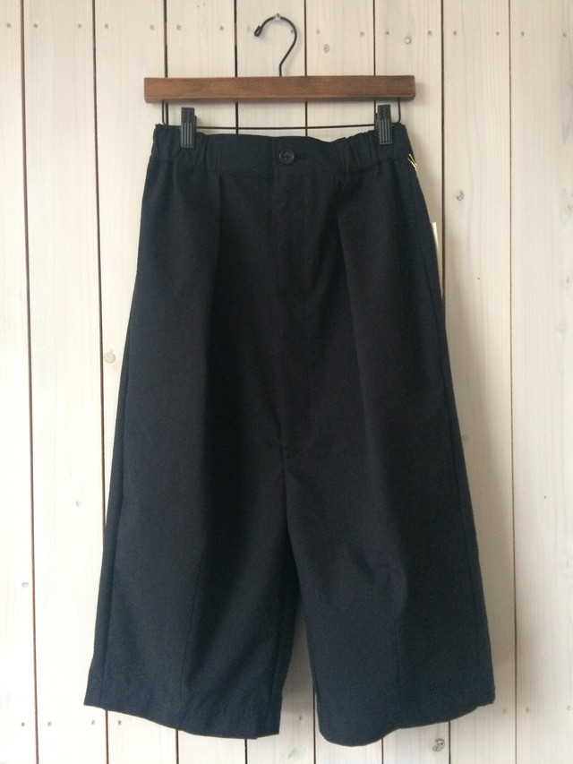 HUIS / 8分丈 wool cotton pants