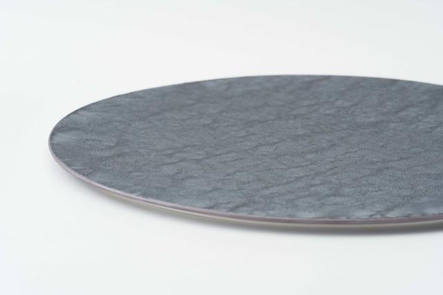 AP)銀結晶釉 28cm 平プレート