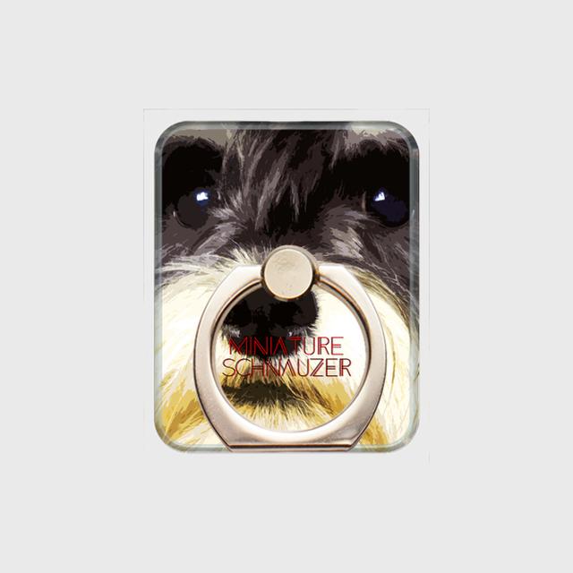 ミニチュアシュナウザー おしゃれな犬スマホリング【IMPACT -color- 】