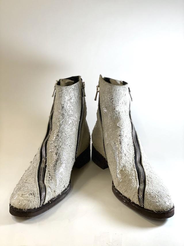 [1点物] SCREW ivory silver-foil / 2101