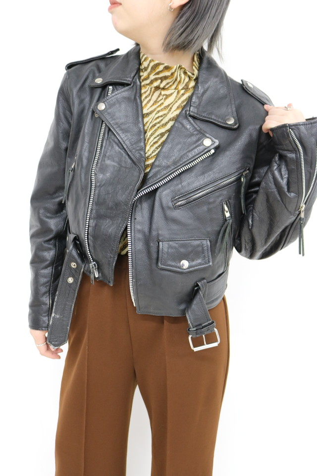 leather rider's jacket / OU11170020