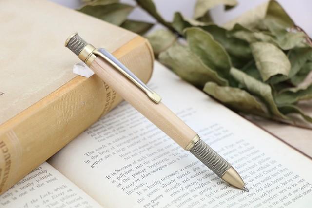 「Alchymia Antique・長崎の世界遺産の聖木 椿/つばき」Viriditas手作りボールペン ジェットストリーム芯対応