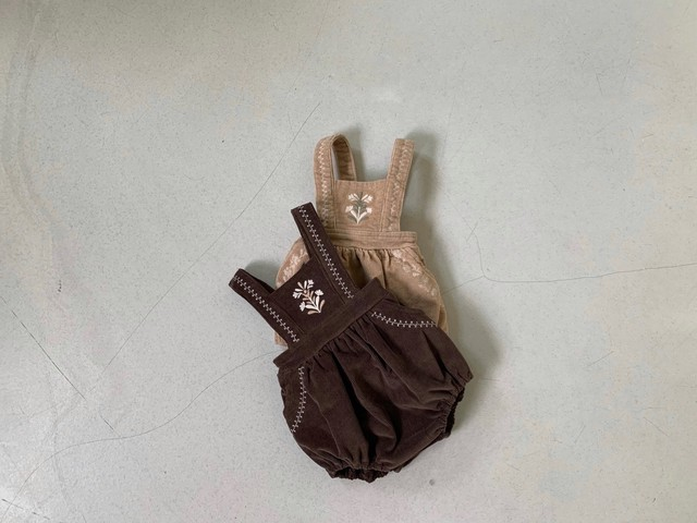 embroidery corduroy suit