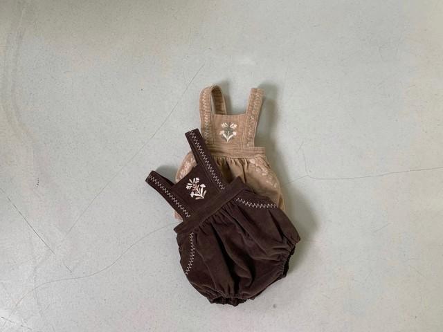LAST1/embroidery corduroy suit