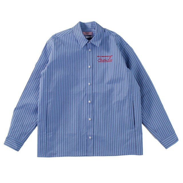 MARTINE ROSE Stripe Shirt Jacket