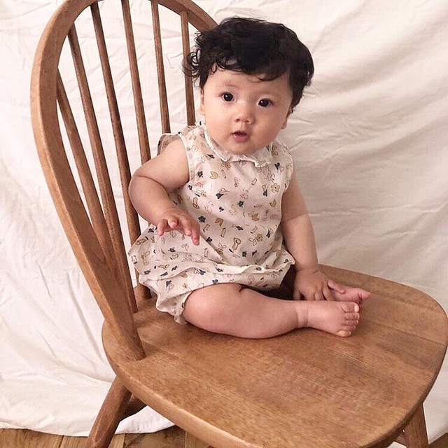 60%OFF ¥2,916→¥1,167 benebene PUFF SLEEVE BODY SUIT(全2色/2T〜8Tサイズ展開)