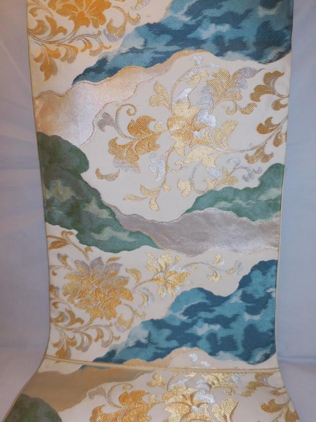西陣すくい手織袋帯 Nishijin Fukuro obi sash (No58)