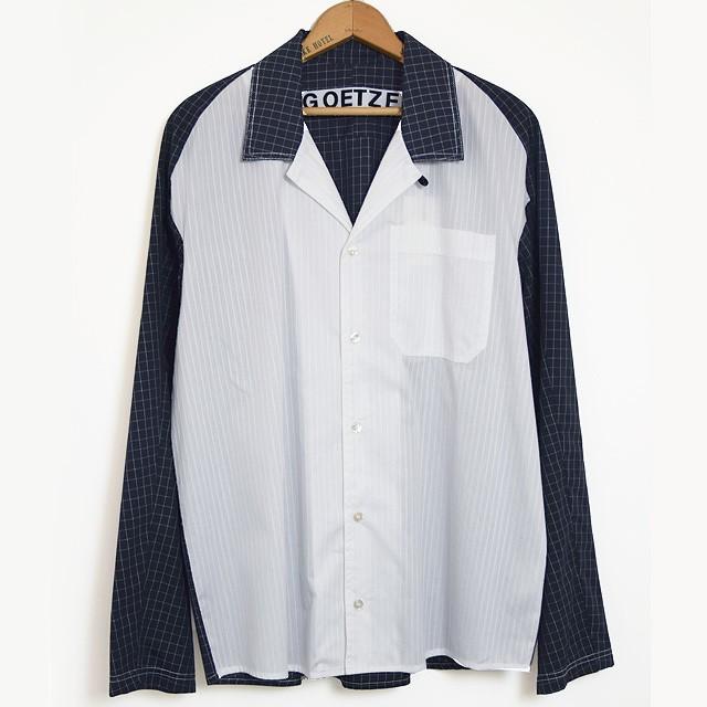 【40%off price】GOETZE ゲッツェ モノトーンコンビネーション ワンピースカラーシャツ