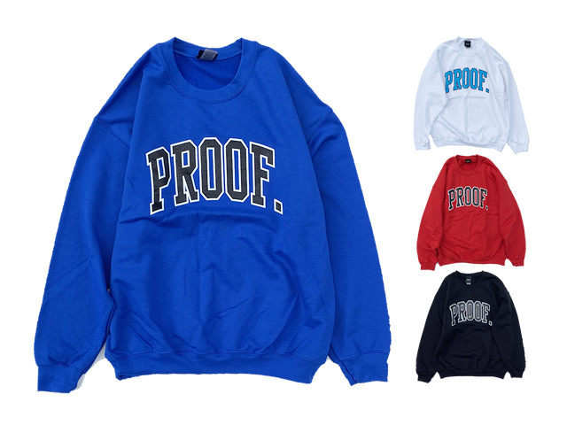 PROOF|COLLEGE LOGO CREW SWEAT