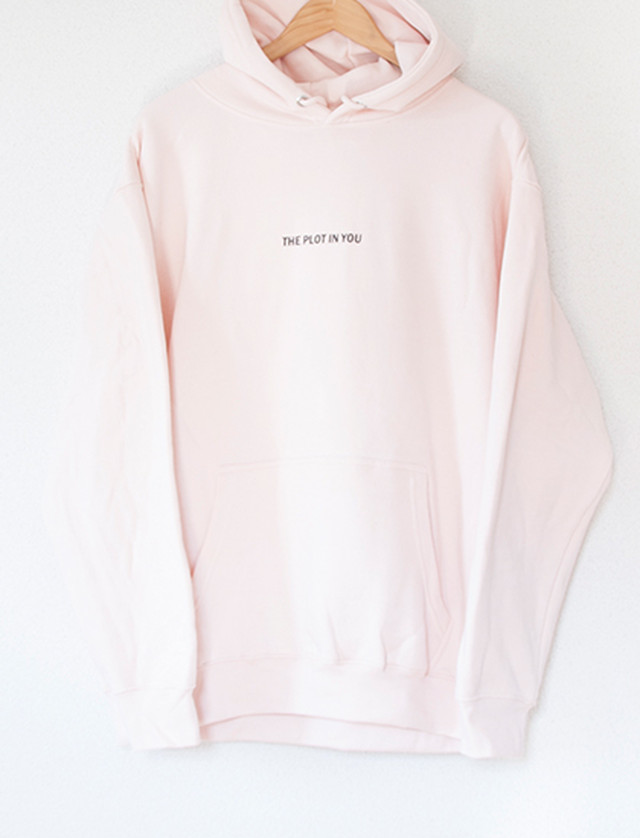 【THE PLOT IN YOU】Rose Skull Hoodie (Pale Pink)